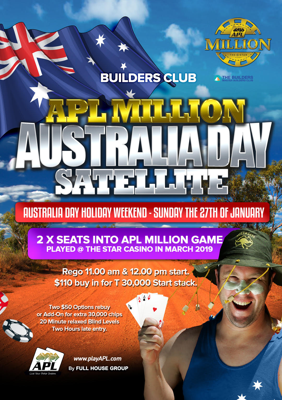 Builders Club Satellite Aussie Day 27th Sunday 12 pm Jan