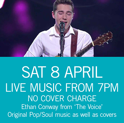 LIVE MUSIC - Ethan Conway Sat 8 April 7pm