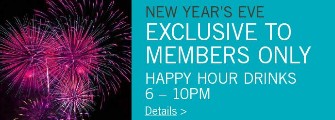 NYE - Members Happy Hour 6-10pm