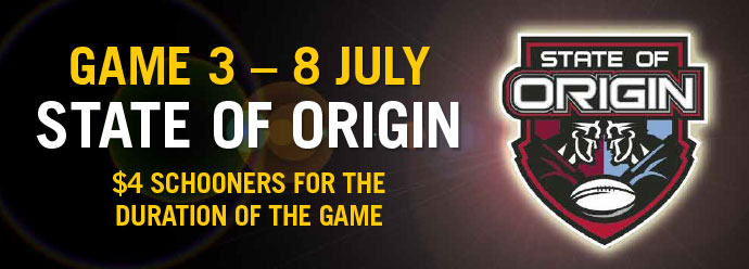 Origin 3: On the BIG screen - $4 SCHOONERS!