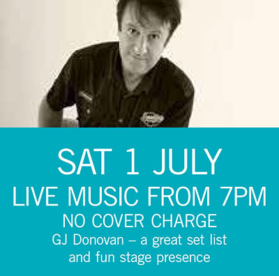 GJ Donovan Sat 1 July 7pm