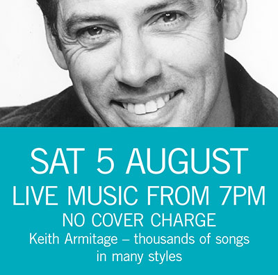 Keith Armitage Sat 5 August 7pm