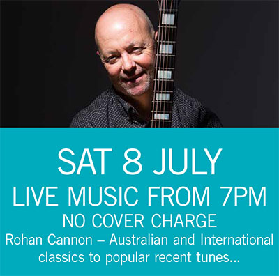 Rohan Cannon Sat 8 July 7pm