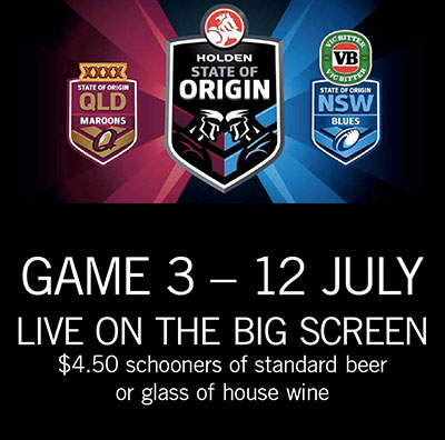 Origin 2017 - Game 3. WEDS 12 JULY