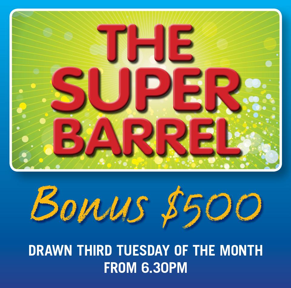 BADGE DRAW & SUPER BARREL