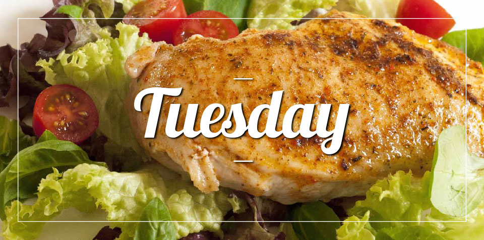 TUESDAY MEMBER'S MEAL SPECIAL