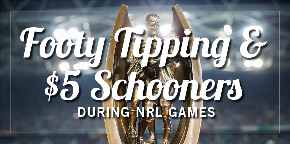 Footy Tipping + $5 Schooners