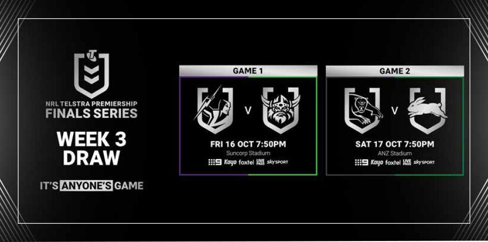 NRL Finals Week – Live on the Big Screen