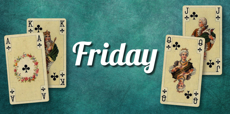 FRIDAY POKER IS BACK FROM 3/6
